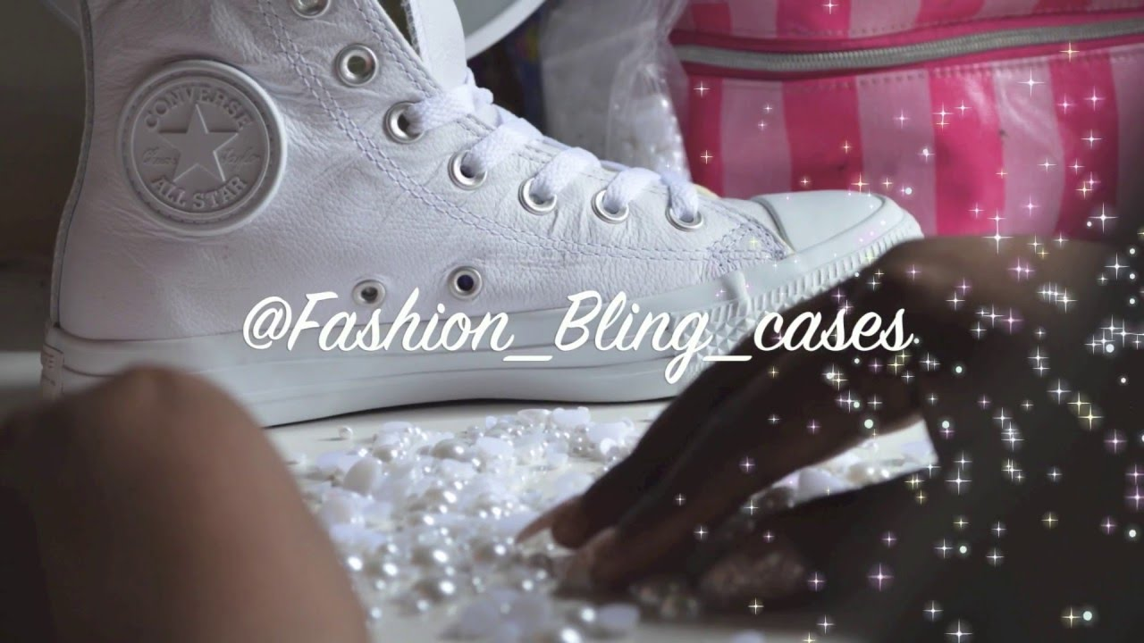 DIY CUSTOM BLINGED CONVERSE WEDDING SHOES - YouTube