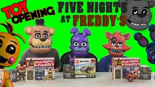 Five Nights at Freddy's Blind Box Opening in Chuck E Cheese Roblox with friends LEGO CEC FNAF