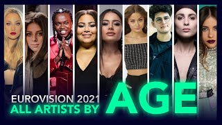 Eurovision 2021 - All Artists By AGE!