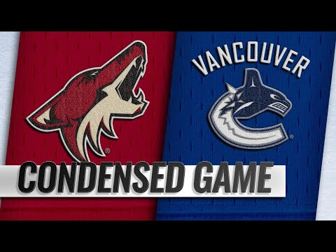 01/10/19 Condensed Game: Coyotes @ Canucks