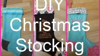 *sewing Diy* Christmas Stocking