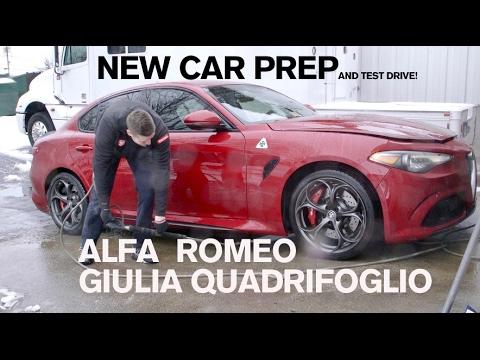 hqdefault new car prep alfa romeo giulia quadrifoglio youtube