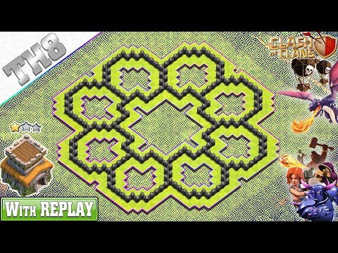 NEW BEST Town Hall 8 Base 2019 With REPLAY!! TH8 Base With COPY LINK - Clash Of Clans