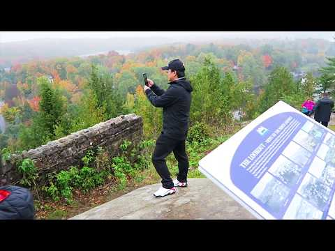LIONS LOOKOUT Fall Color, Huntsville, Ontario, Canada 4K