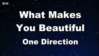 What Makes You Beautiful - One Direction Karaoke 【No Guide Melody】 Instrumental
