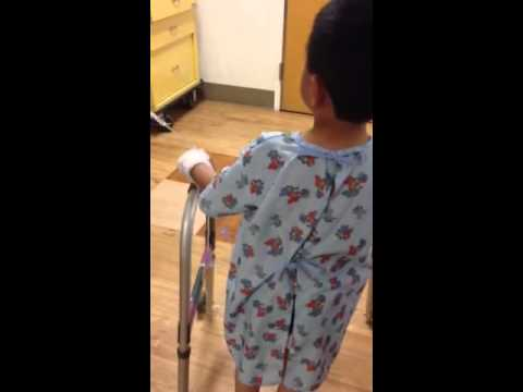 James trying to walk