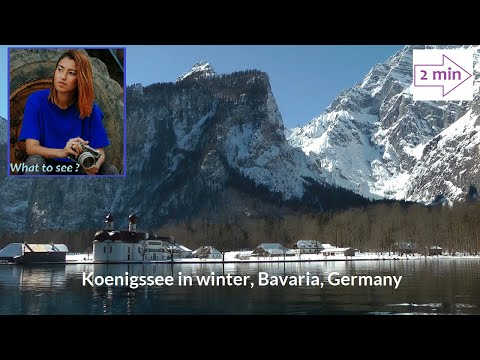 WHAT TO SEE : Koenigssee, the lake in winter, Bavaria, Germany (2 Minutes in Europe Collection)