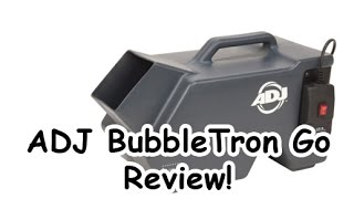 ADJ Bubbletron Go Review - Wireless Bubble Machine!!