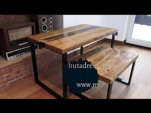 Jak zalewać żywicą? Stół ze starego drewna z żywicą How use Epoxy River Table! DIY Woodworking LOFT