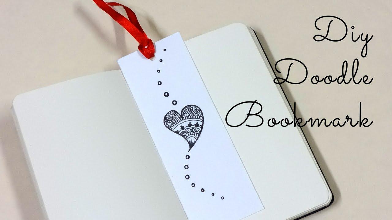 diy doodle bookmark youtube