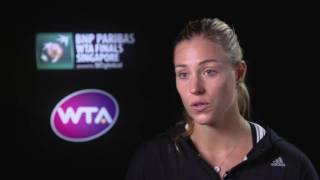 2016 WTA Finals Singapore Day 3: Angelique Kerber Post Match Interview