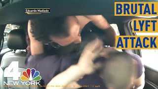NYC Lyft Passenger Caught on Camera Savagely Beating Driver | NBC New York
