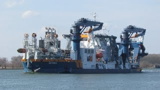 Van Oord's Cutter suction dredger Artemis at the Oude Maas on 2013-04-01