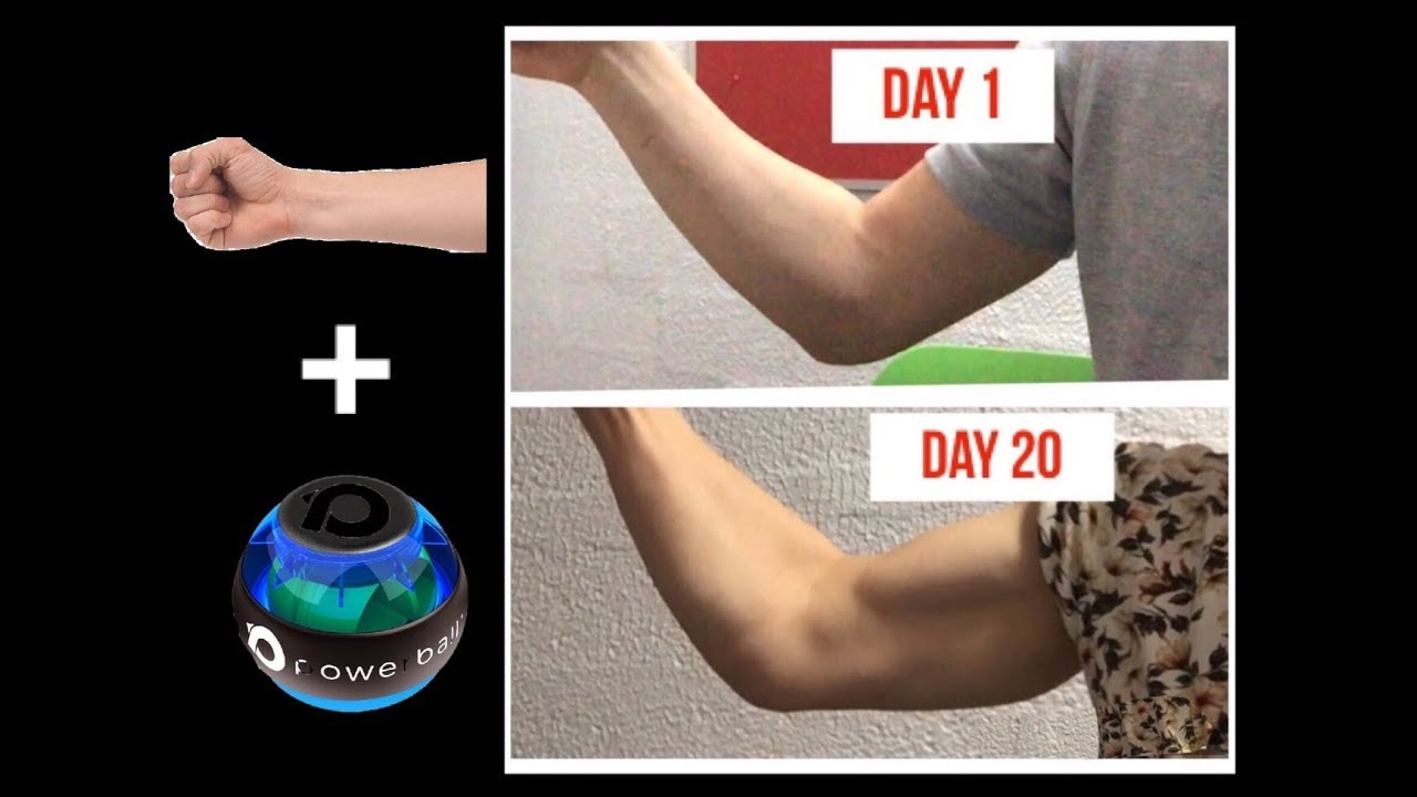 How To Get Big Forearms In 20 Days Using The Powerball Youtube