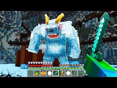 FIGHTING A GIANT YETI MONSTER IN THE ARTIC! (minecraft)  