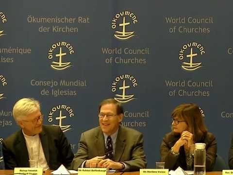 Panel hosted by the World Council of Churches: Peace-building in Geneva