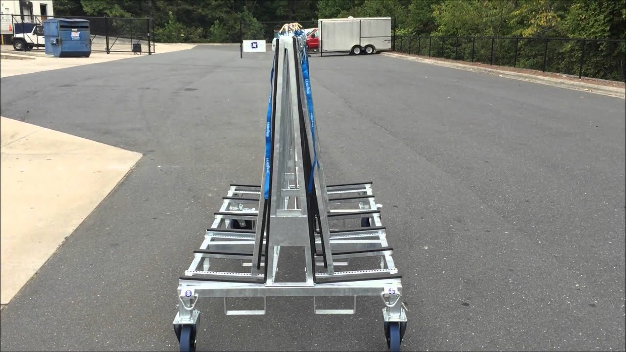 Weha 6 Foot Granite Transport A Frame Cart Youtube