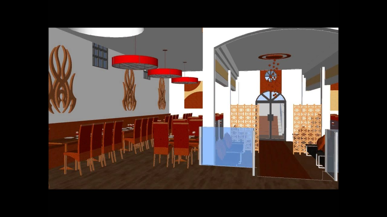 3d Interior Design Of Wedding Hall And Buffet Restaurant