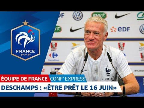 """Équipe de France, Conf' Express - Deschamps : """"Être prêt le 16 juin"""""""