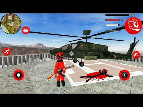 Stickman Deadpool Rope Hero - Open World Game - Android Gameplay HD