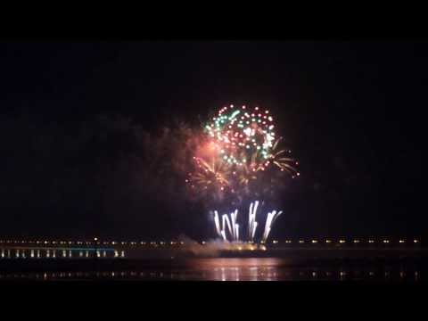 Penang Second bridge's firework in grand ceremony (Penang 2nd Bridge) @ 1st March2014
