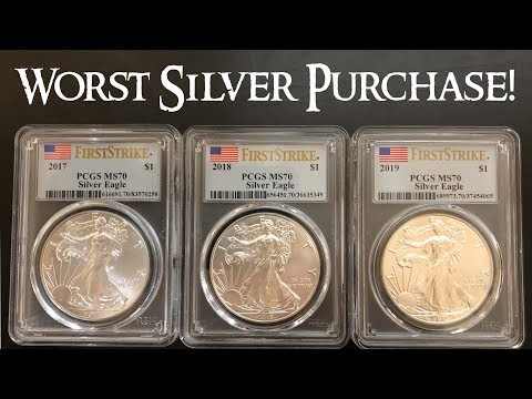MS 70 Silver Eagles - The Worst Silver Purchase I Have Ever Made