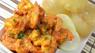 Shrimp With Mustard Sauce  - By Vahchef @ Vahrehvah.com