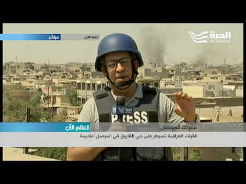 تفاصيل دقيقة عن سير المعركة داخل أحياء الموصل ينقلها الينا مراسل الحرة فلاح الذهبي