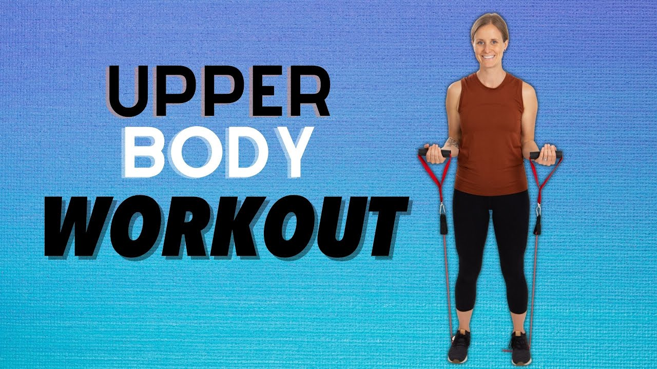 15 Minute Upper Body Resistance Band Workout- Workout with Jordan