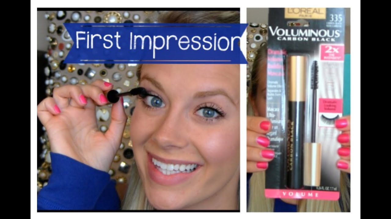 d845d2af039 L'oreal Voluminous Carbon Black Mascara: First Impression - YouTube