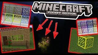 КАК ПОЛУЧИТЬ РАЗНОЦВЕТНЫЕ СТЕКЛА И ПАНЕЛИ В Minecraft PE 1.0   - (БЕЗ МОДОВ)