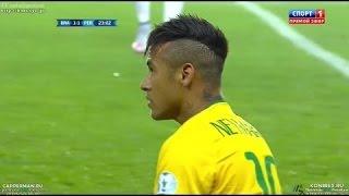 Neymar with some amazing skills vs Peru in Copa America 2015
