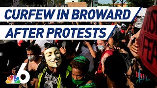 Curfew Issued for Broward County After Fort Lauderdale Protests Turn Violent