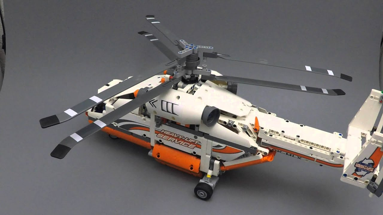 lego technic 42052 heavy lift helicopter features youtube. Black Bedroom Furniture Sets. Home Design Ideas