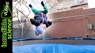 1 Year Old Boy Does Backflip on a Trampoline with Dad!!
