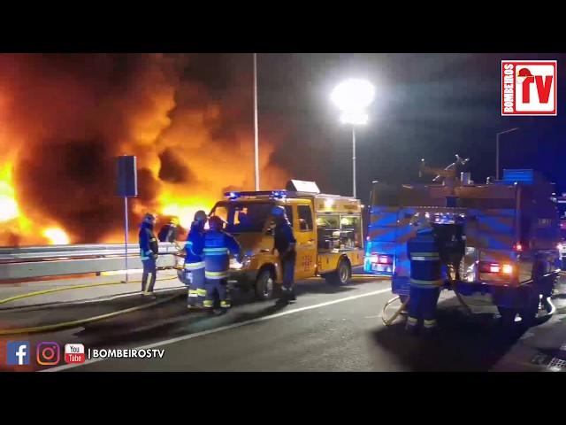 Incêndio numa Fabrica Têxtil em Santo Tirso