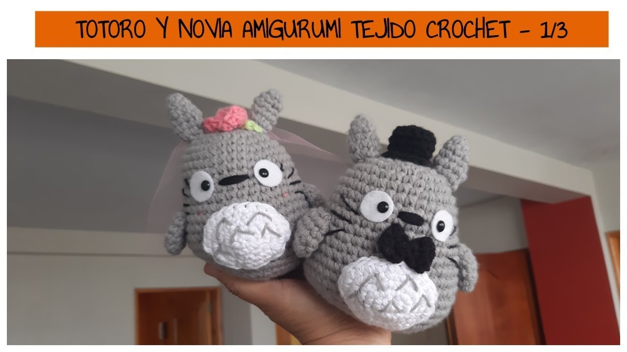 Totoro and Soot Sprites Crochet Pattern With Video | 手芸 ... | 720x1280
