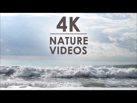 Relaxing waves • ocean • marine • coast | 4K VIDEO Ultra HD HDR TV | Samsung OLED TV