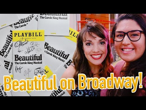 Beautiful the Musical (BROADWAY) 💛 VLOG/STAGE DOOR/REVIEW