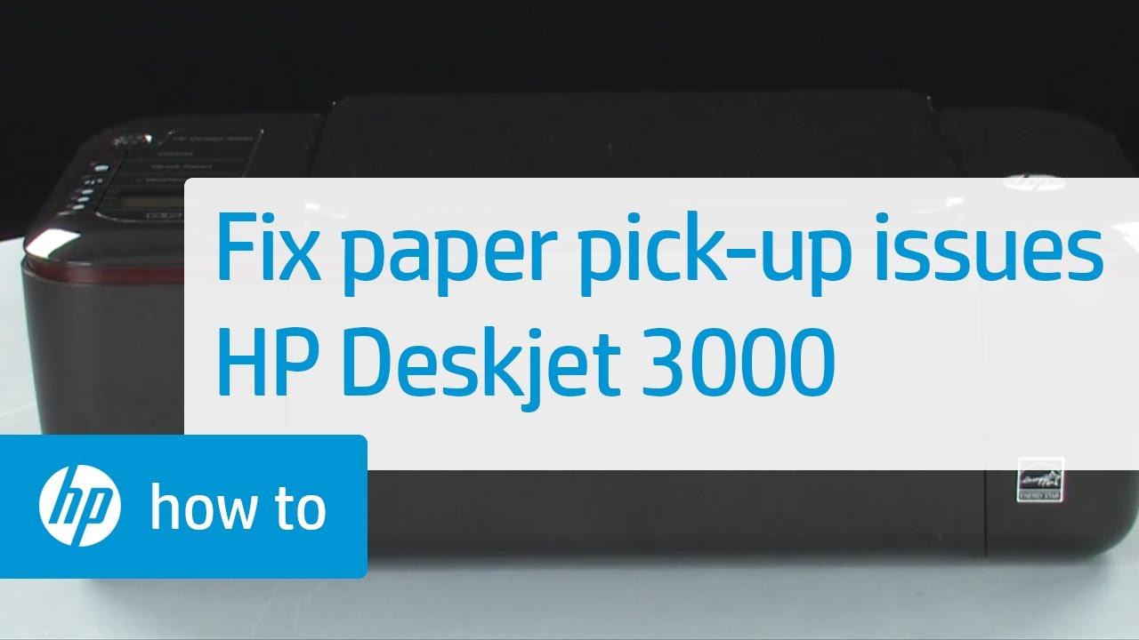 fixing paper pick up issues hp deskjet 3000 printer youtube rh youtube com HP 3000 Printer Ink HP Printer Deskjet 3000 J310a