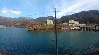 【車窓】特急ワイドビューひだ11号 下呂→飛騨宮田付近 キハ85系 2019.2.14