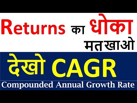 What is CAGR ( Compound annual growth rate )| How to Calculate CAGR for Mutual funds and Shares