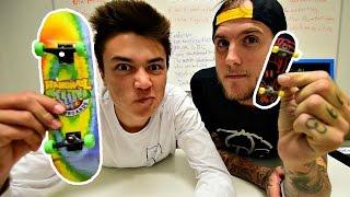 Handboarding VS Fingerboarding Game of SKATE with Fetty Potter!