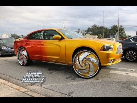 WhipAddict: Kandy Blue Dodge Charger on Forgiato 32s, Yellow/Orange Charger on DUB 30s