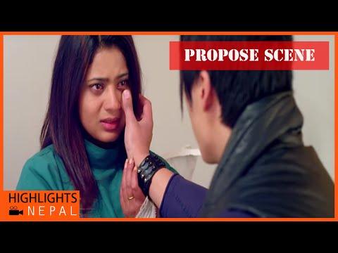 Propose Scene | Nepali Movie BITEKA PAL | Keki Adhikari