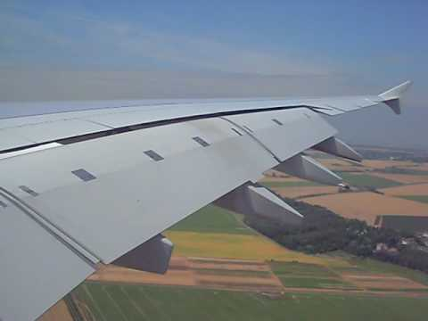 A380 Wallpaper Hd Airbus A380 Wing View Landing Youtube