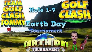 Golf Clash tips, Hole 1-9 - Walkthrough! Rookie division - Earth Day Tournament! thumbnail