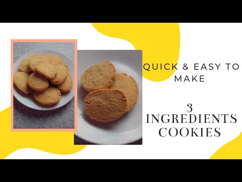 3 INGREDIENTS COOKIES || Shortbread Biscuits