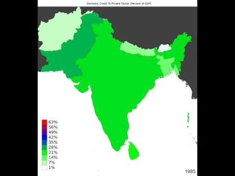 South Asia - Domestic Credit To Private Sector - Time Lapse