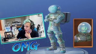 Ninja Reacts To the NEW LEVIATHAN SKIN AND PLANETARY PROBE GLIDER! (Fortnite Battle Royale)